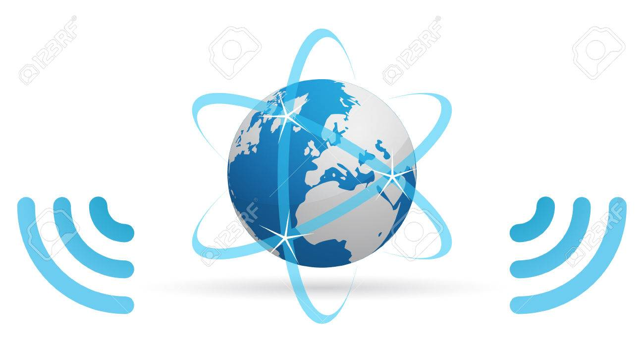 Network planet blue waves Stock Vector - 6757948