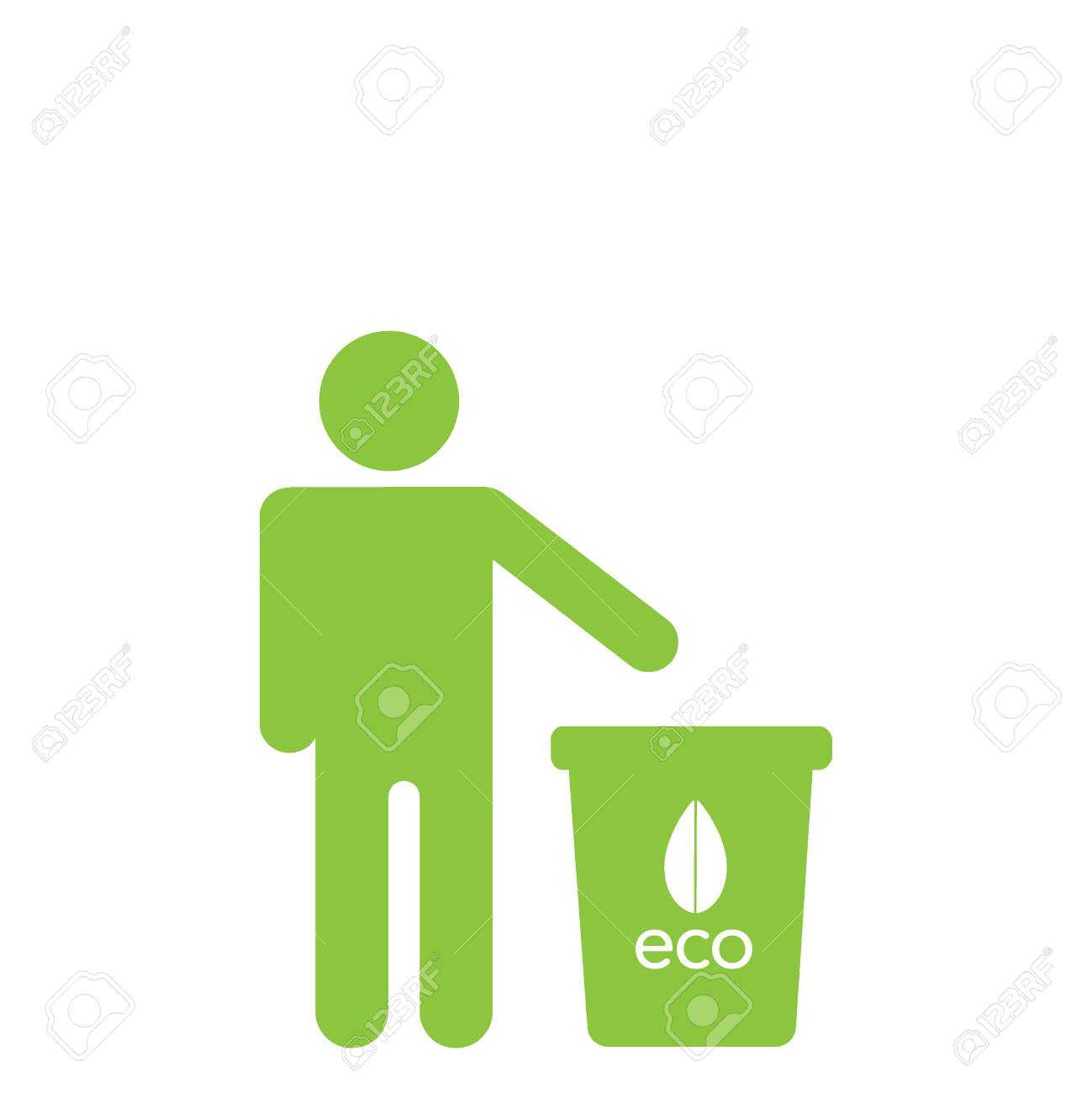 Symbol Of Not Waste Vector Flat Icon Illustration On White
