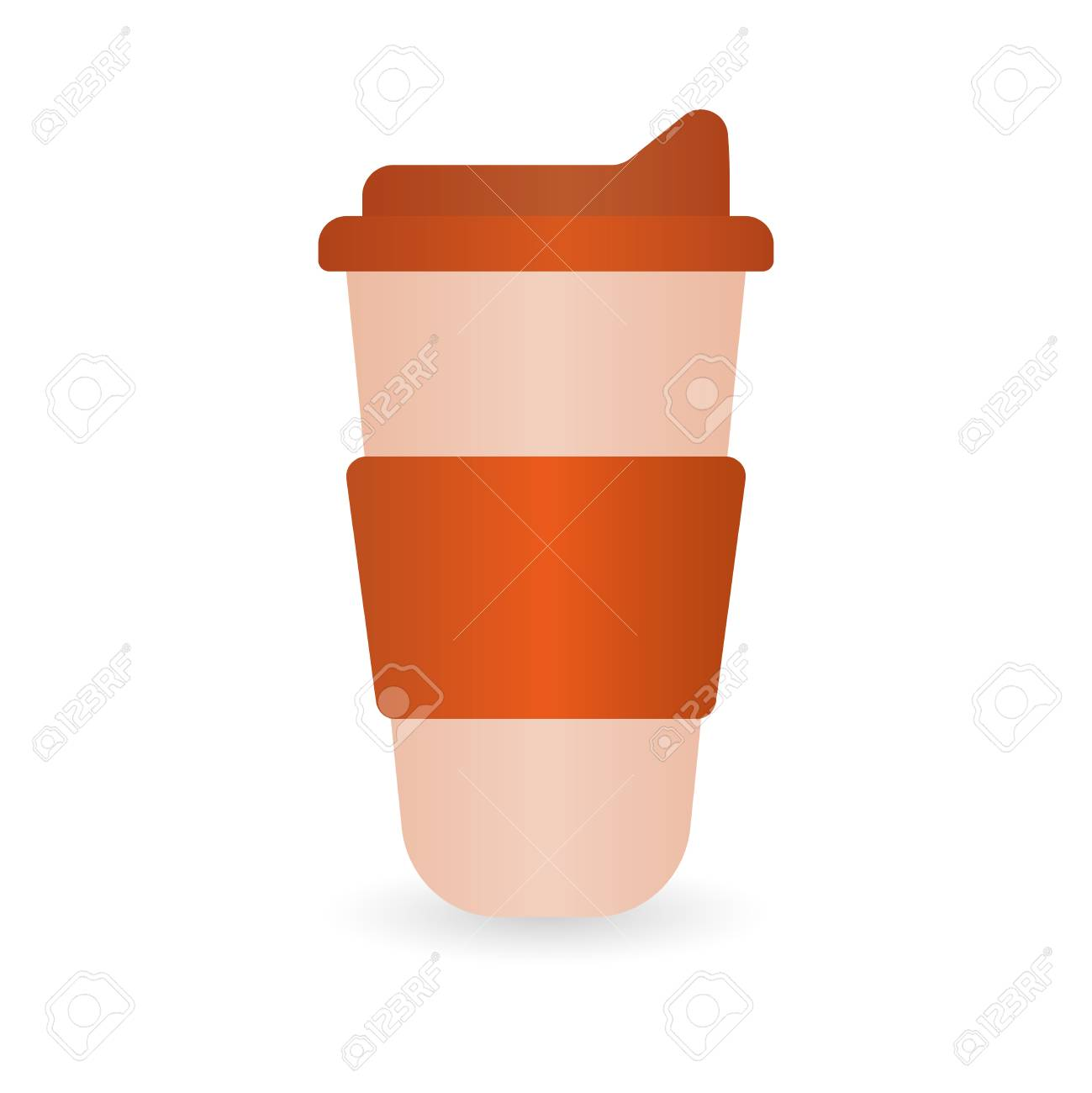 Thermos MockupRealistic Illustration Of Red Thermos Mug CedBxWro