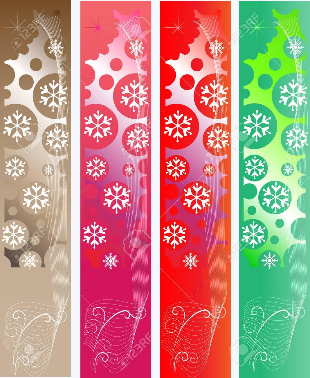 Abstract Christmas Banners Stock Vector - 5570526