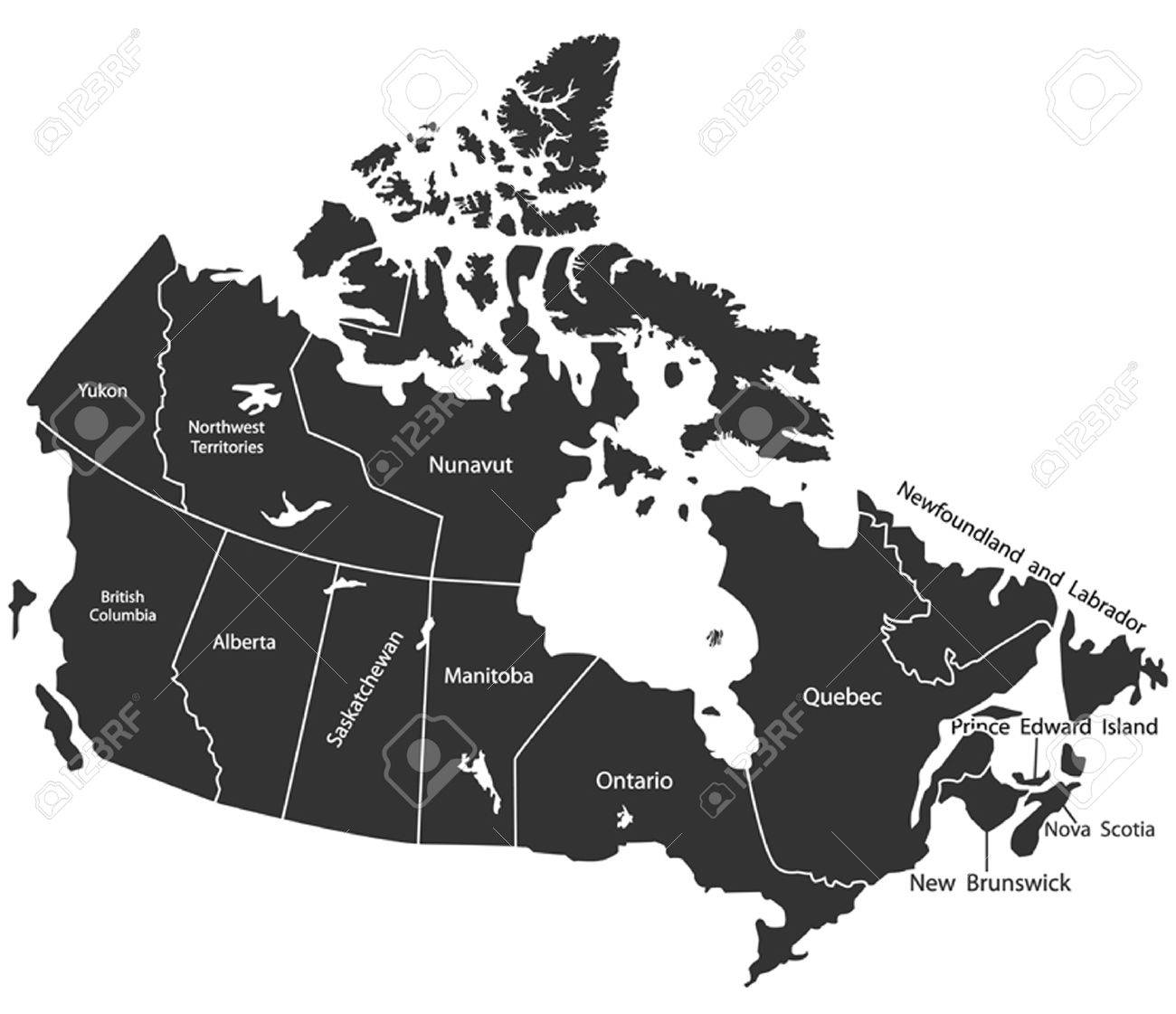 Detailed Vector Map Of Canada Royalty Free Cliparts Vectors And
