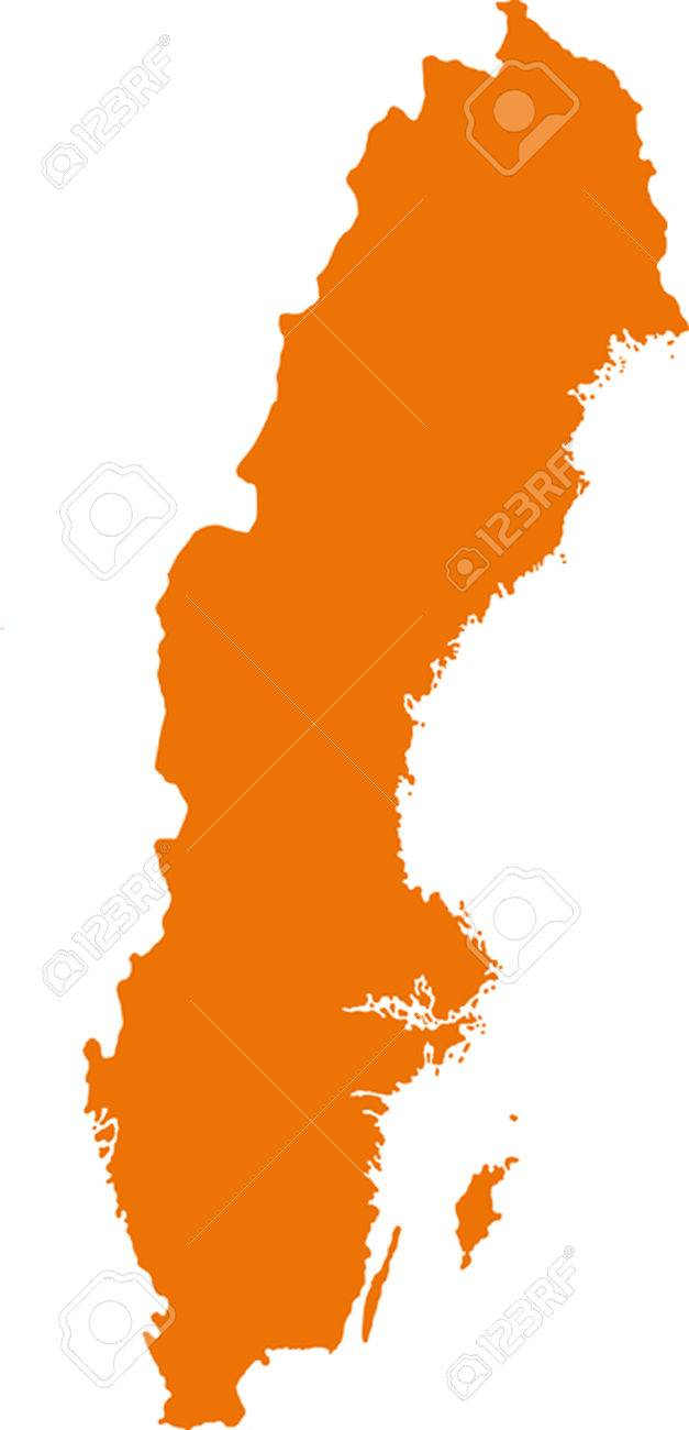 Sverige Karta Clipart.Map Of Sweden Royalty Free Cliparts Vectors And Stock Illustration