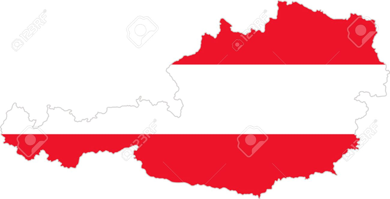 Map And Flag Of Austria Royalty Free Cliparts Vectors And Stock