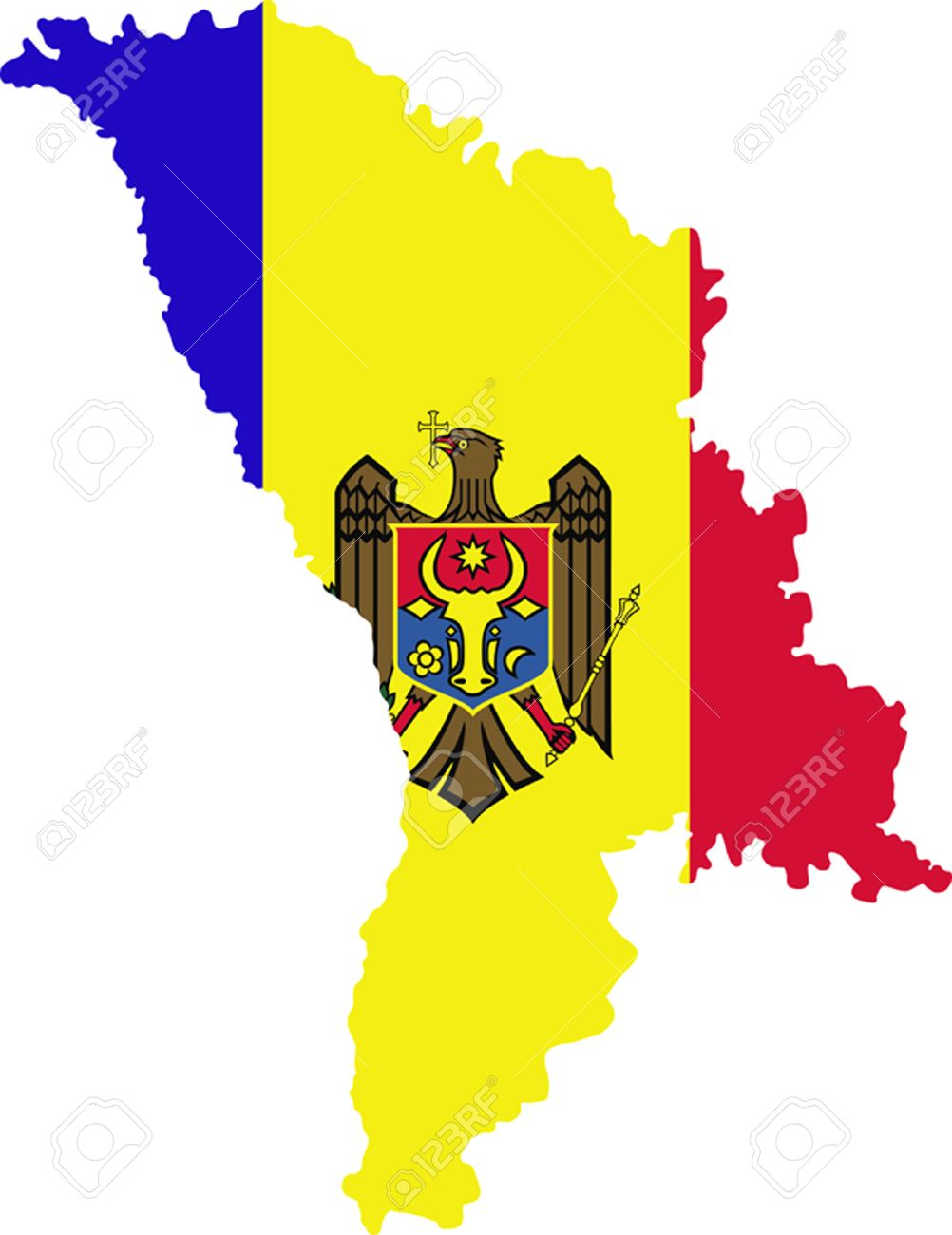 Map And Flag Of Moldova Royalty Free Cliparts Vectors And Stock - Moldova map vector