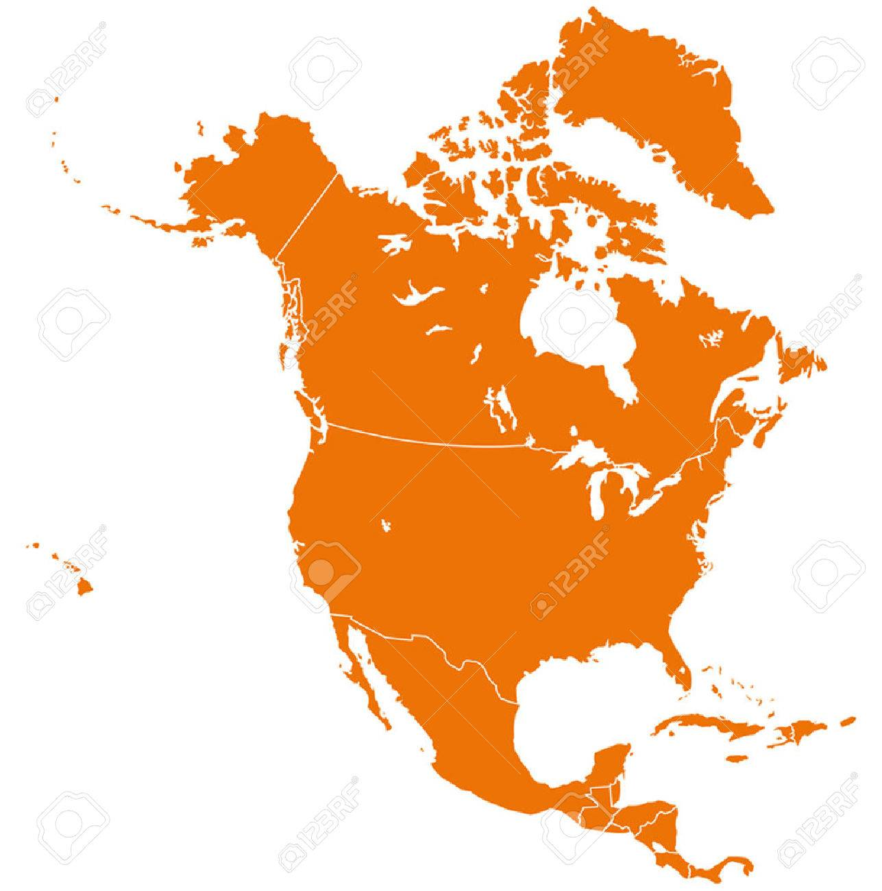 north america map royalty free cliparts vectors and stock rh 123rf com north america vector map with states and provinces north america map vector ai