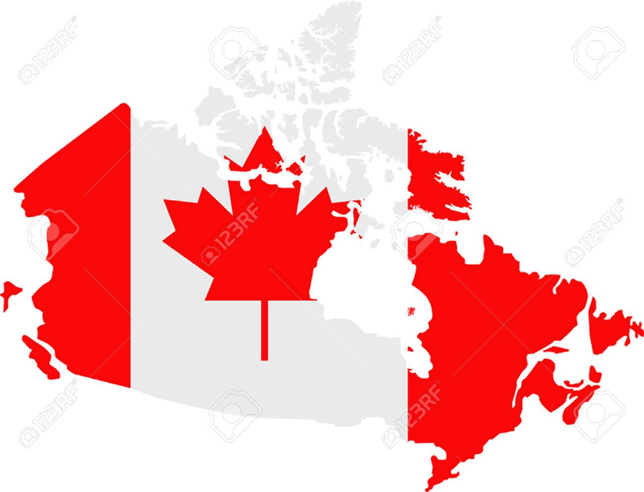 Canada Map Flag.Map And Flag Of Canada Royalty Free Cliparts Vectors And Stock