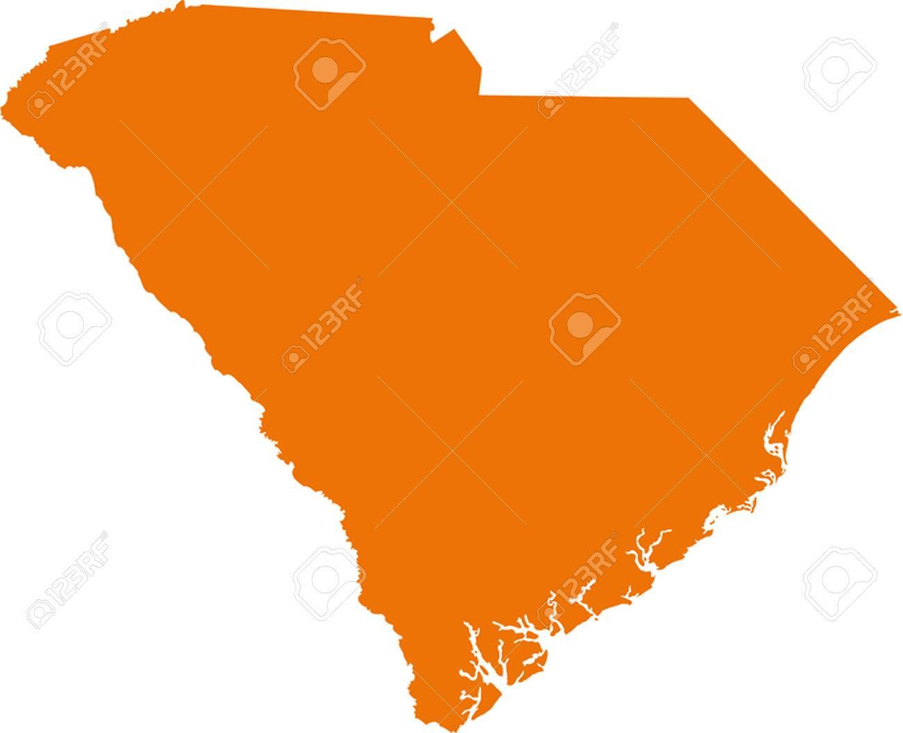 South Carolina Map Royalty Free Cliparts Vectors And Stock