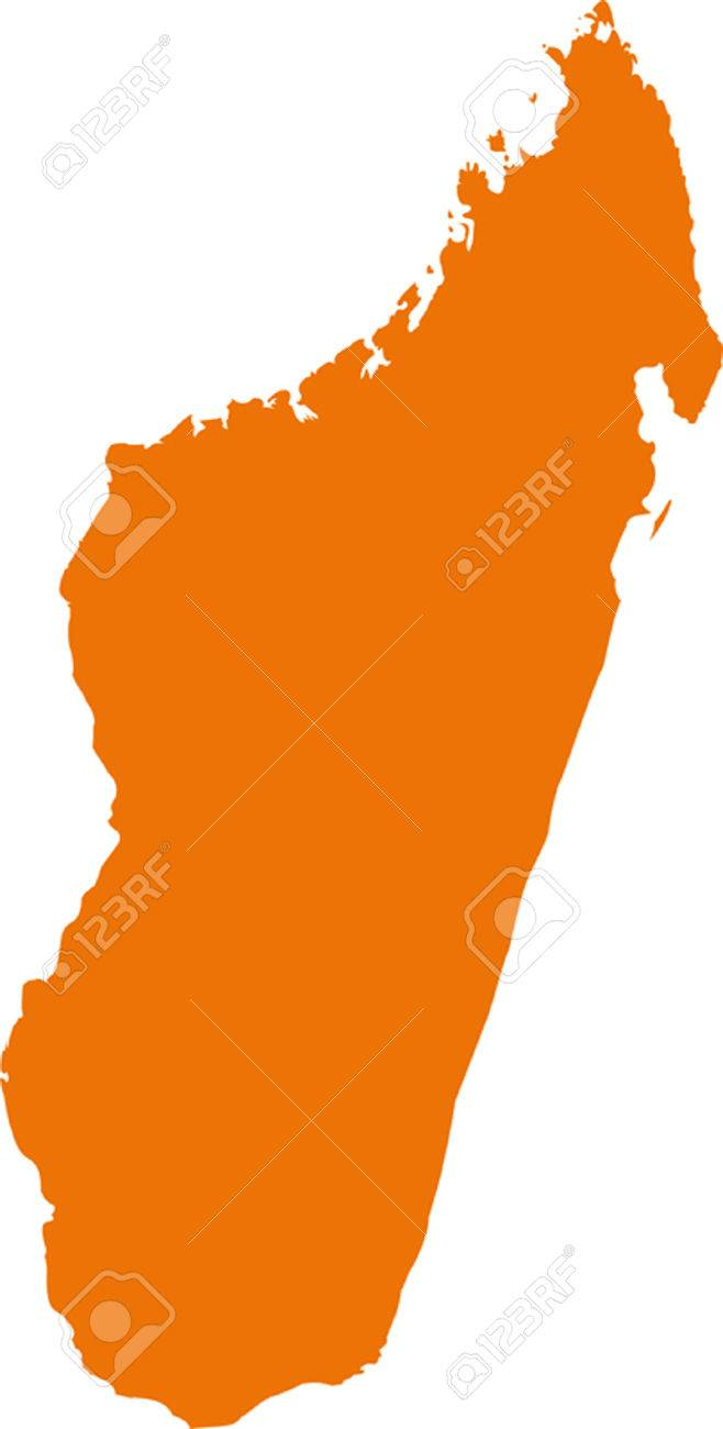 Vector Madagascar Map On Africa Royalty Free Cliparts Vectors And