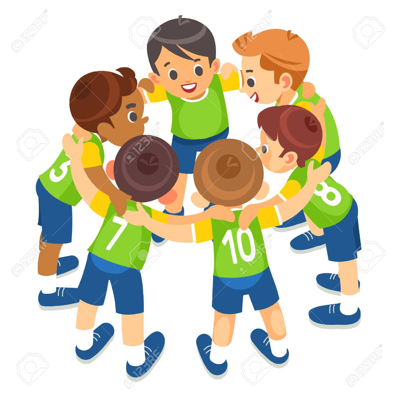 Kids Play Sports Children Sports Team United Ready To Play Game Royalty Free Cliparts Vectors And Stock Illustration Image 126626952