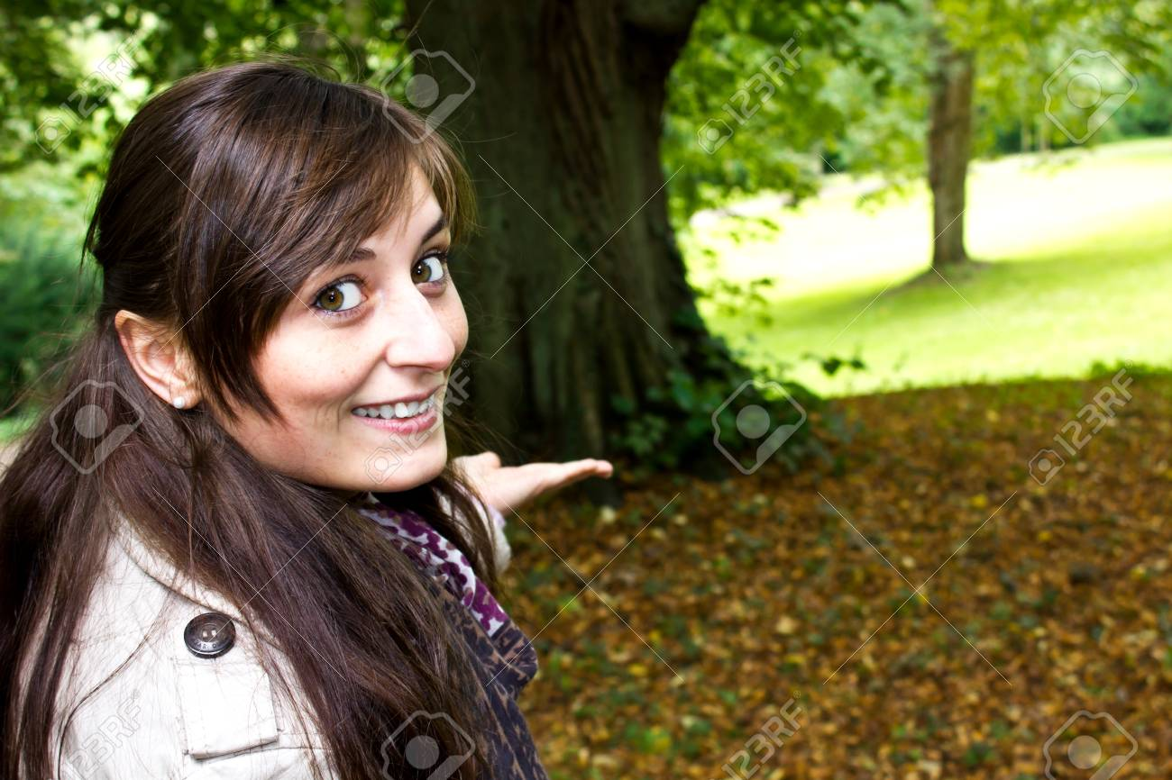 young woman in autumn park Stock Photo - 14900102