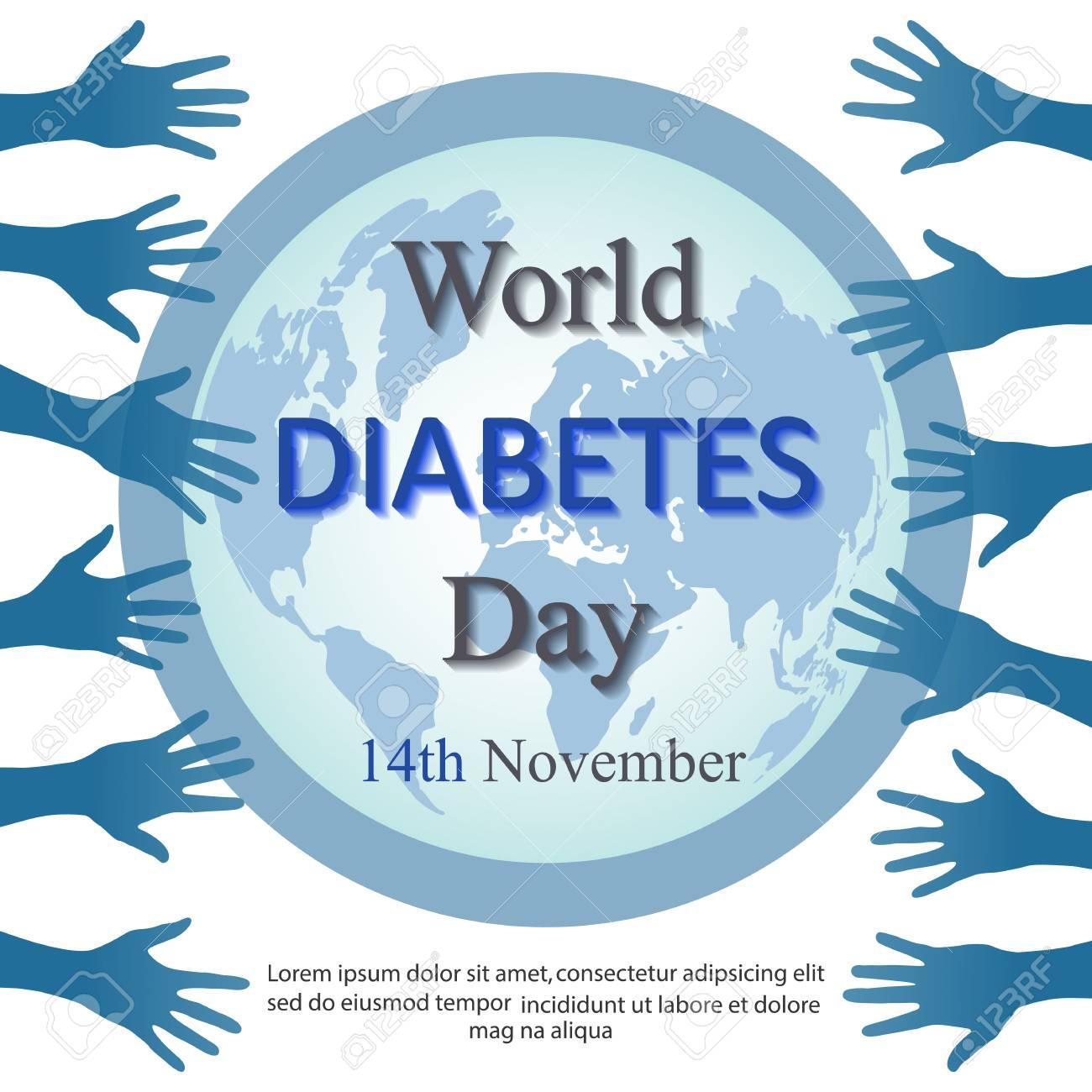 silueta de vector de cinta de diabetes