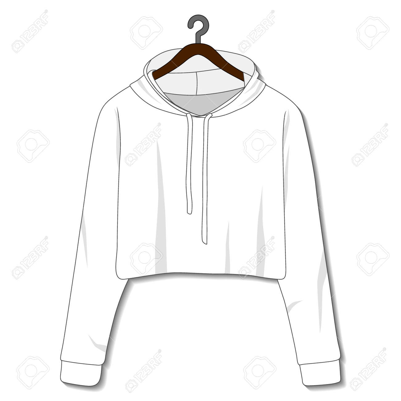 Female hoodie template isolated on a white background - 168266584