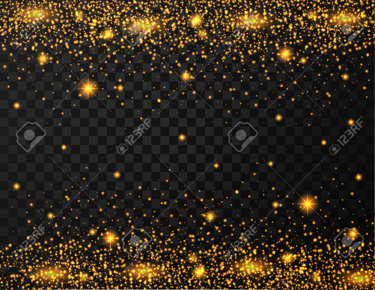 Gold glitter texture on transparent background - 168266710
