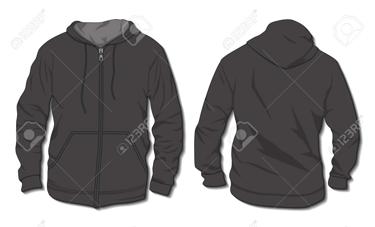 Hoodie jacket with zipper. Mockup template - 168266723