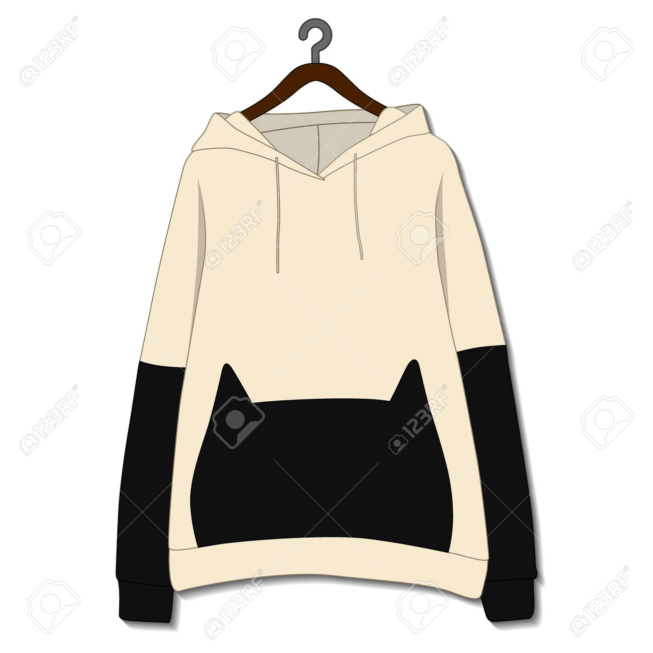 Female hoodie template isolated on a white background - 168266874