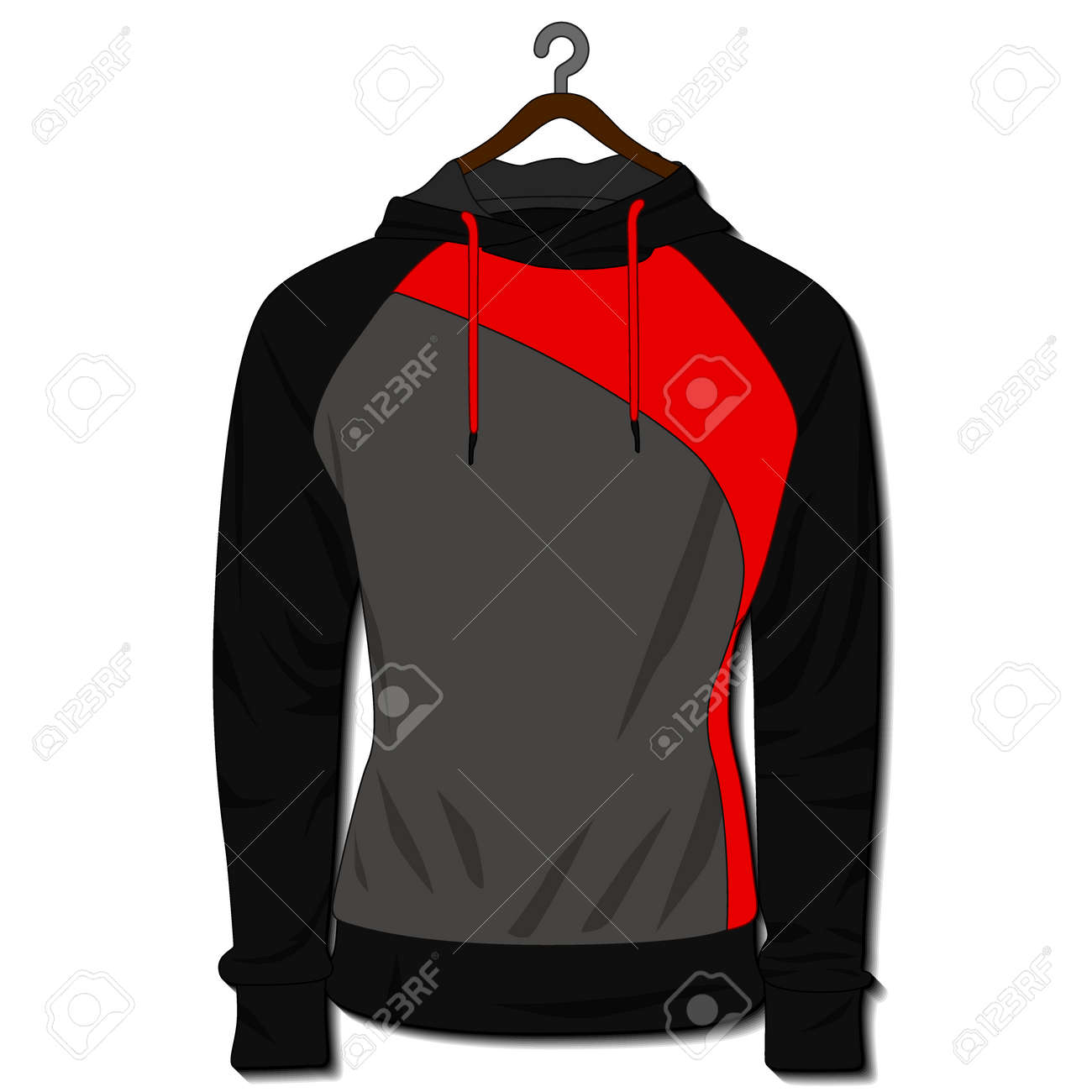 Hoodie jacket isolated on white background. Mockup template - 168266875