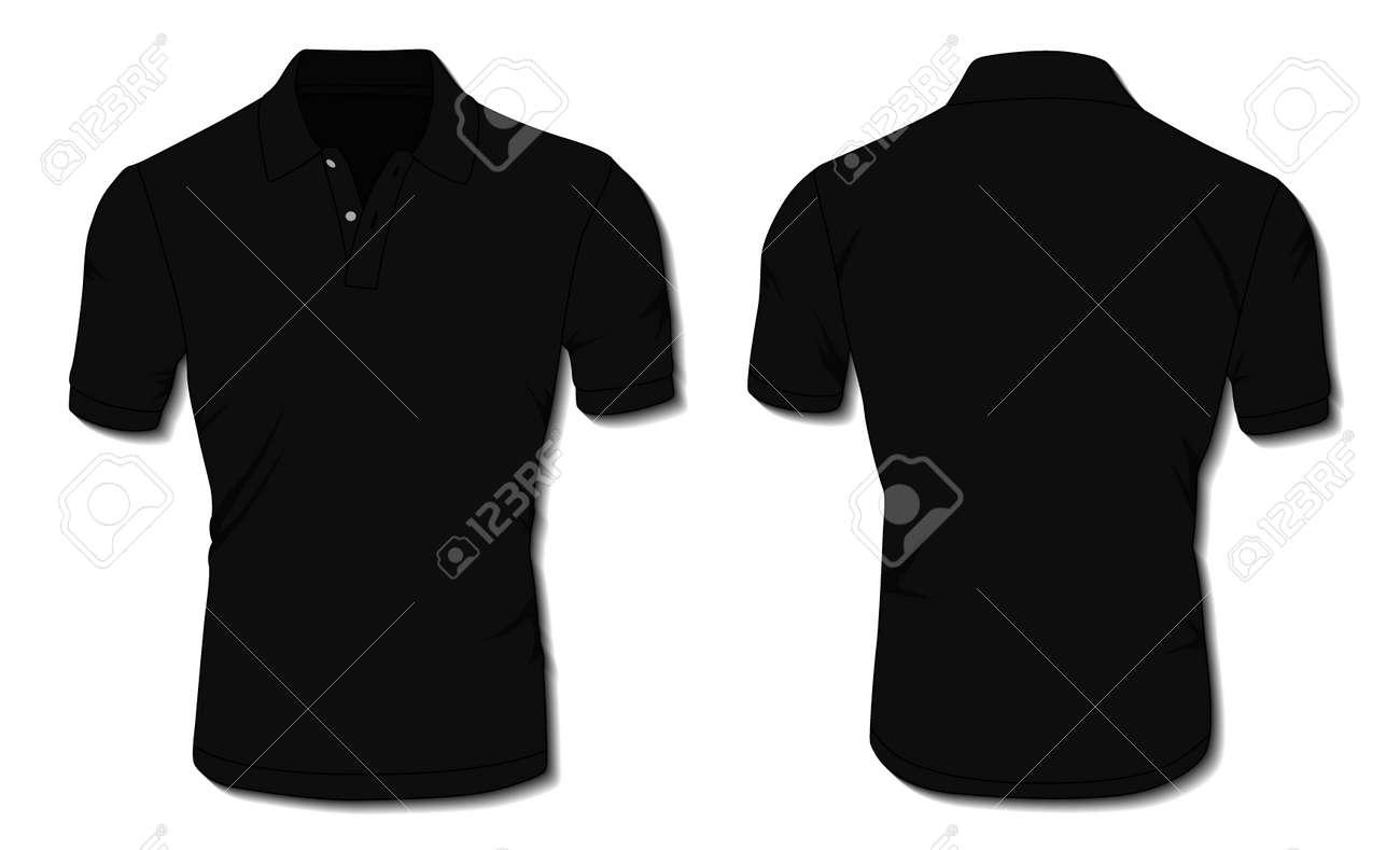 Black Polo Shirt Template - 171397979