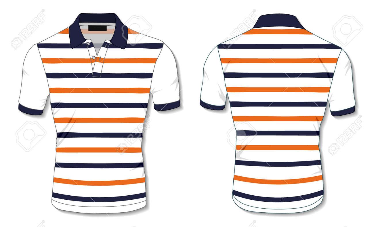 Striped Polo Shirt Template - 171397980