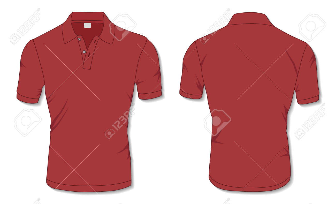 Red Polo Shirt Template - 171397983