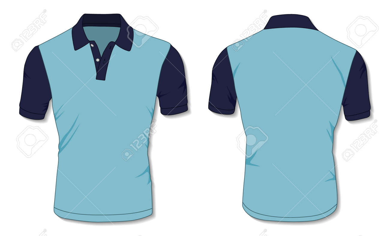 Blue Polo Shirt Template - 171397989