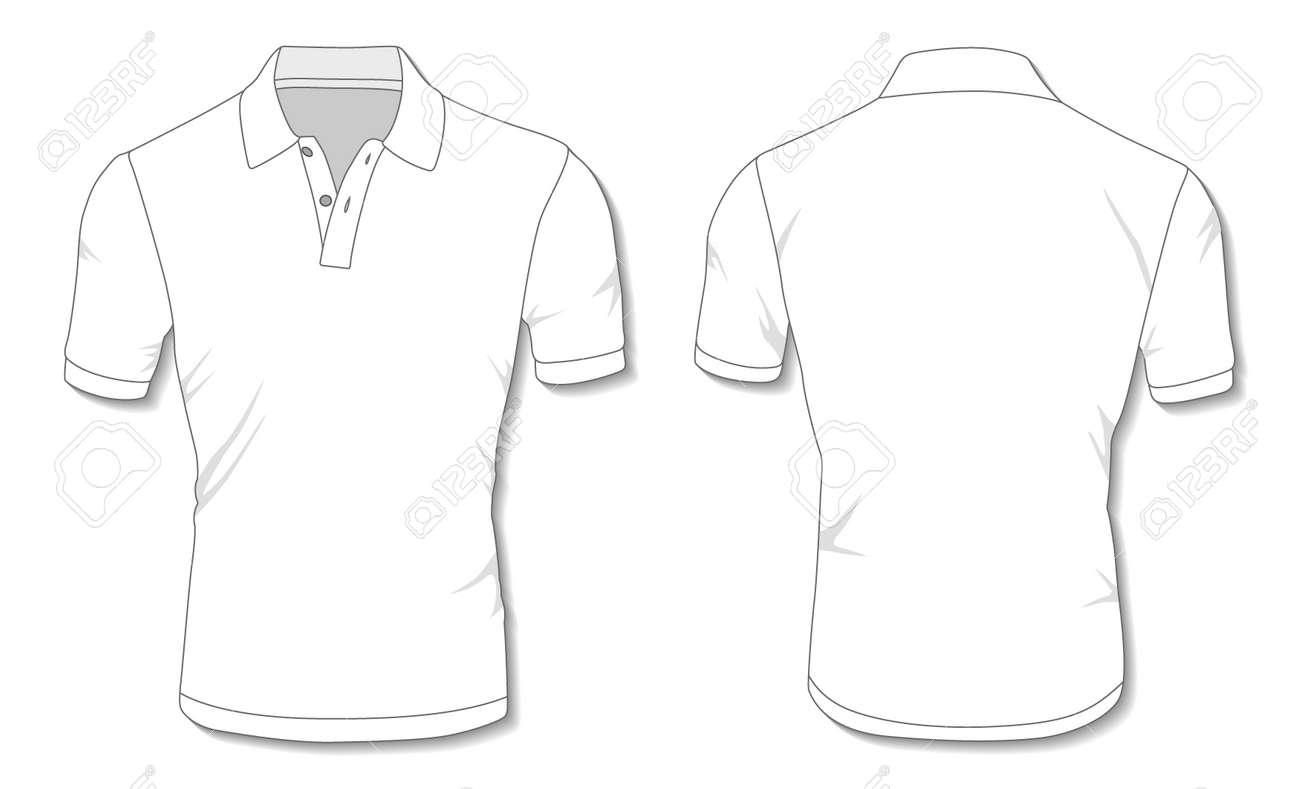 White Polo Shirt Template - 171397992