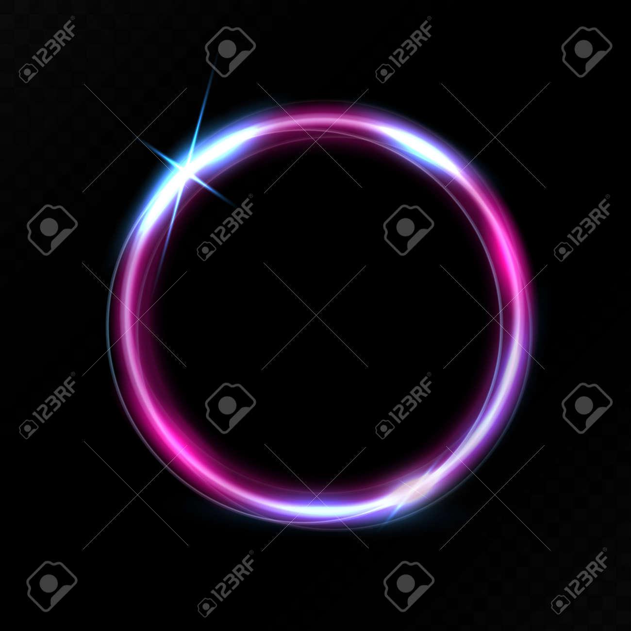 Purple circle light effect - 171398002