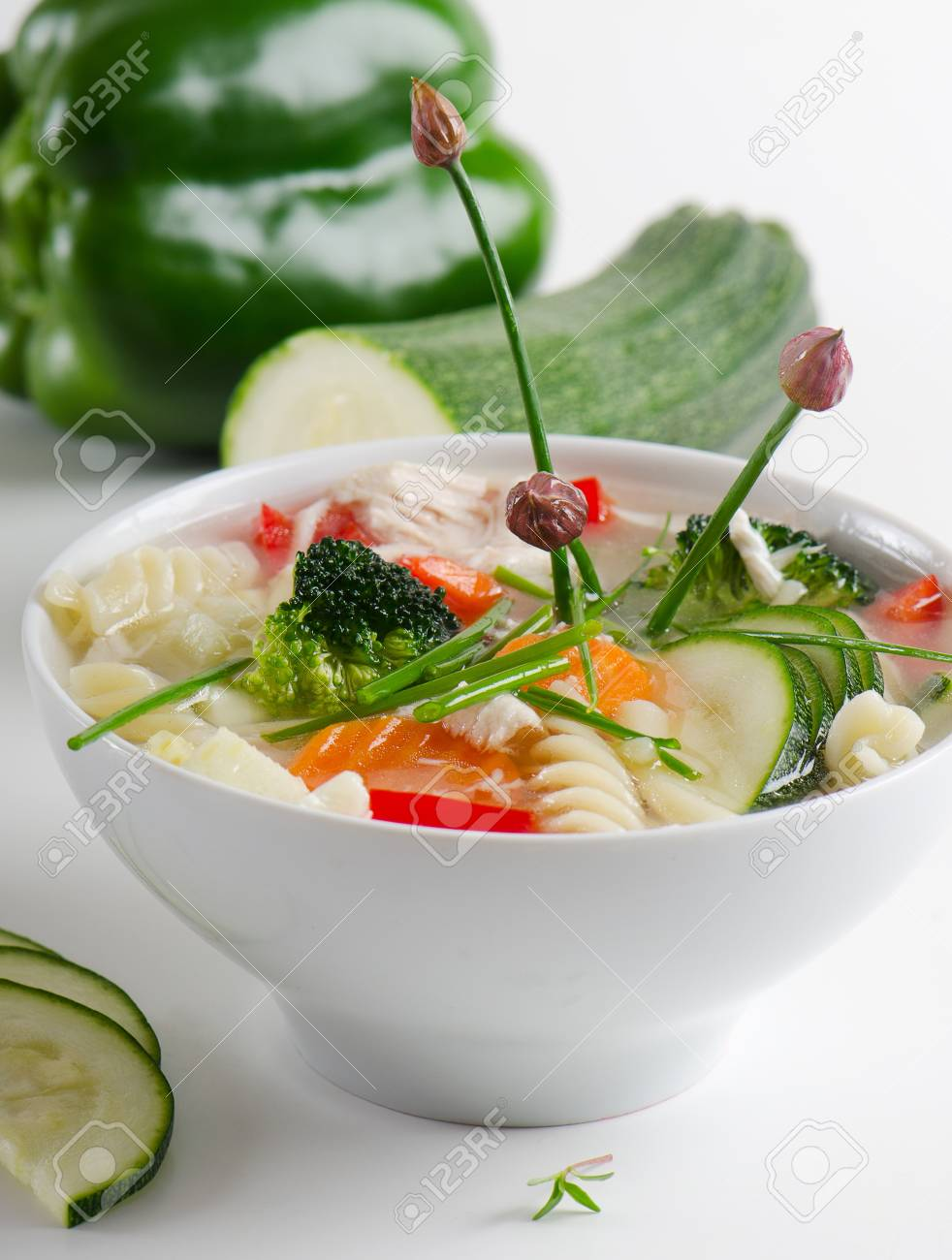 Bowl of vegetable Soup Stock Photo - 13658745