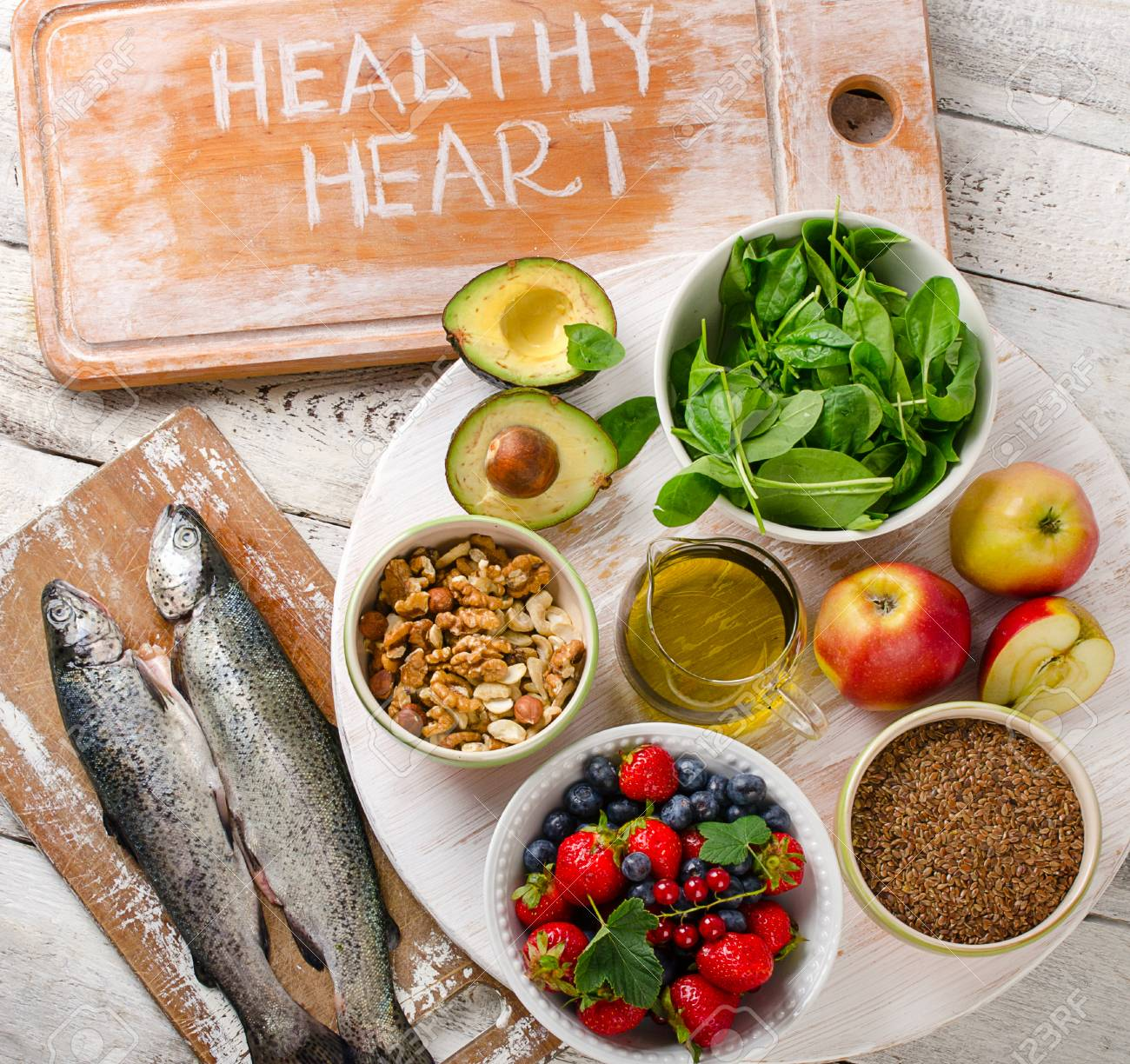Best Food For Healthy Heart Heart Healthy Diet Top View Stock Photo Picture And Royalty Free Image Image 60240393