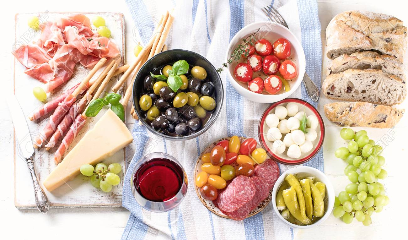 Typical Italian Antipasto Mixed Antipasto Platter Traditional Stock Photo Picture And Royalty Free Image Image 97526073