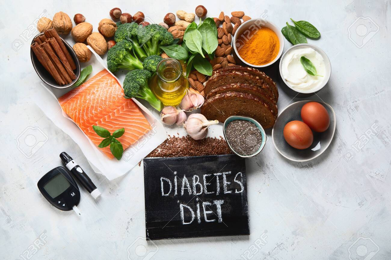 Healthy foods for Diabetes diet. Cholesterol diet, food high in antioxidants, vitamins and minerals. - 133091639