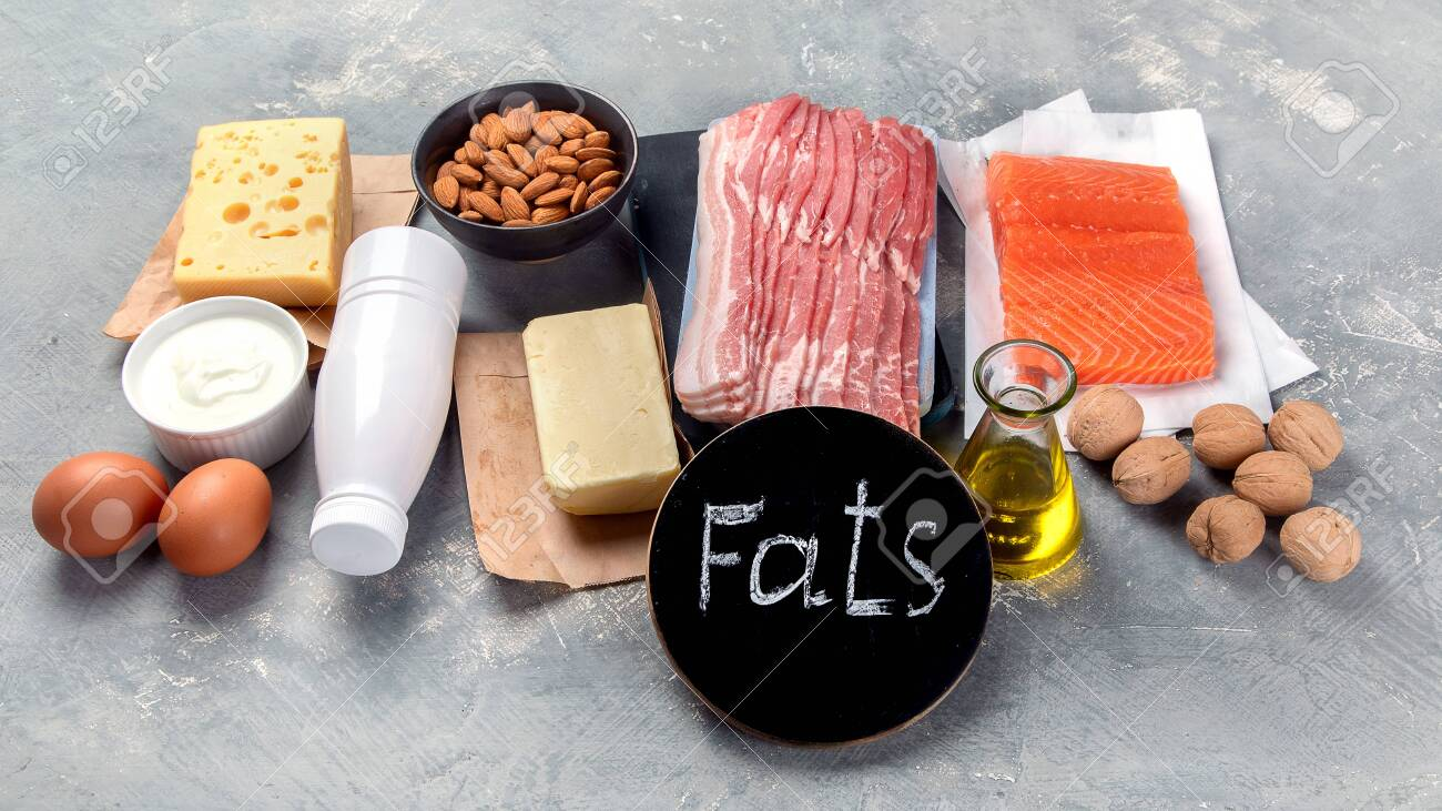 Foods Rich In Fats. Main Food Group - Macronutrient Fats. Stock Photo,  Picture And Royalty Free Image. Image 147310078.
