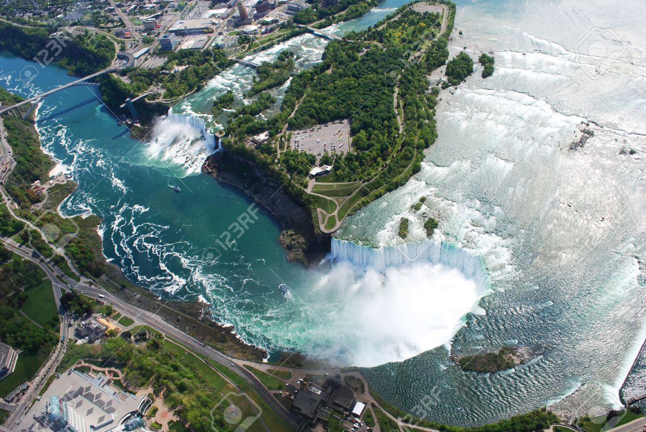 Niagara Falls Both In New York Usa And Horse Shoe Falls In Toronto