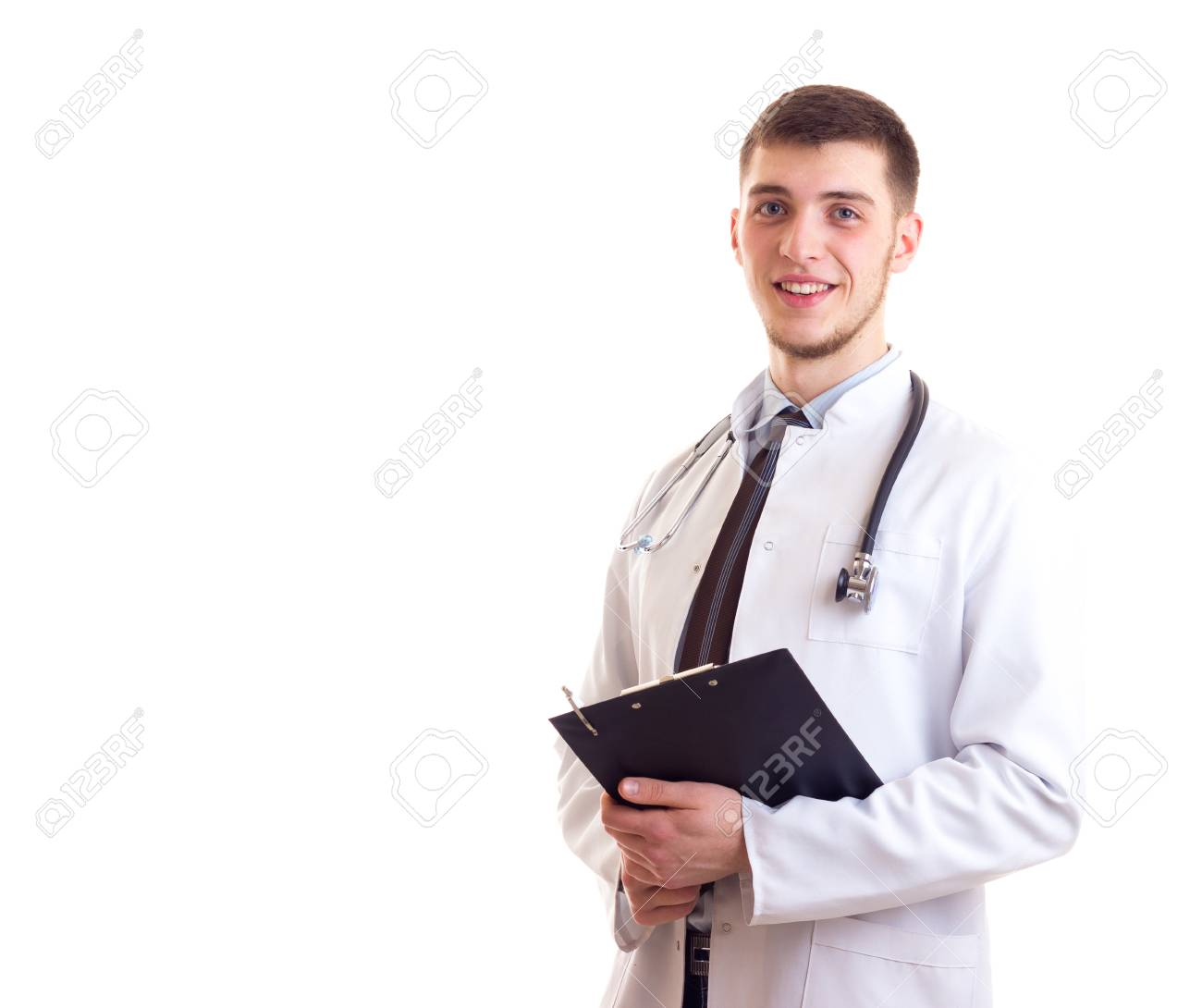 Young Man In Doctor Gown Stock Photo, Picture And Royalty Free Image ...