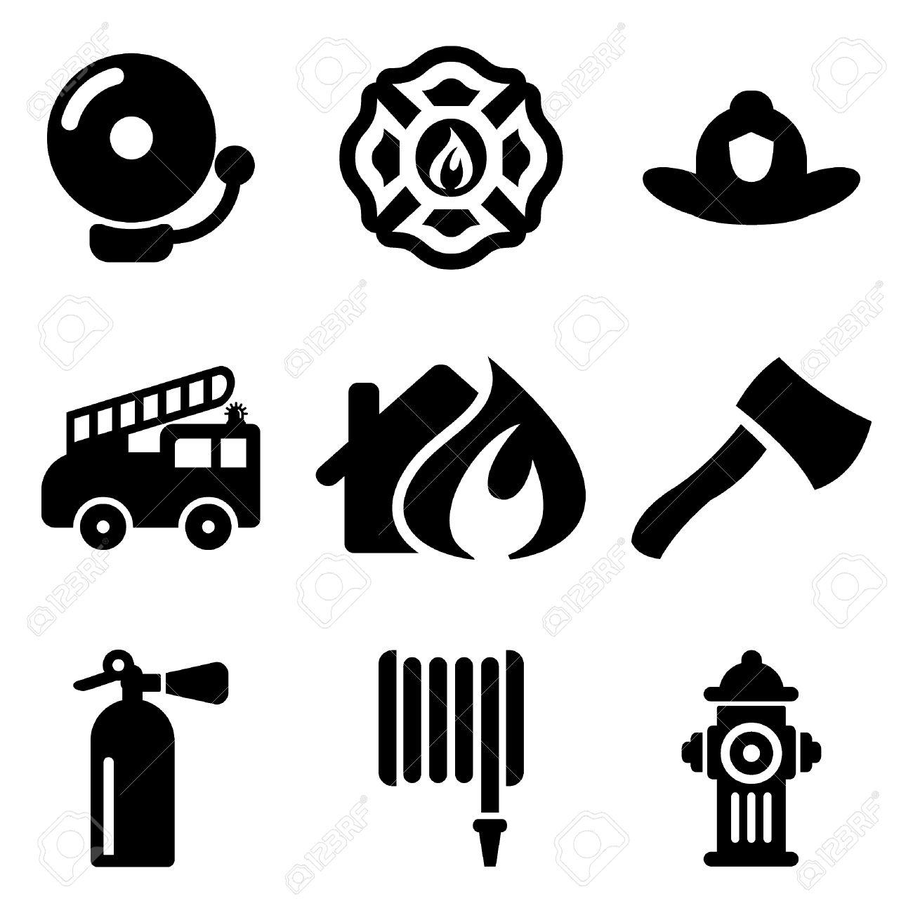 Fireman icons royalty free cliparts vectors and stock fireman icons stock vector 47121128 buycottarizona Choice Image