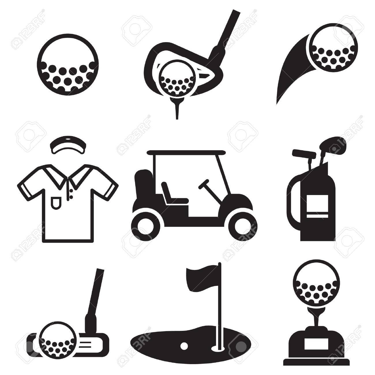 golf icons royalty free cliparts vectors and stock illustration rh 123rf com golf vector pro golf vector free