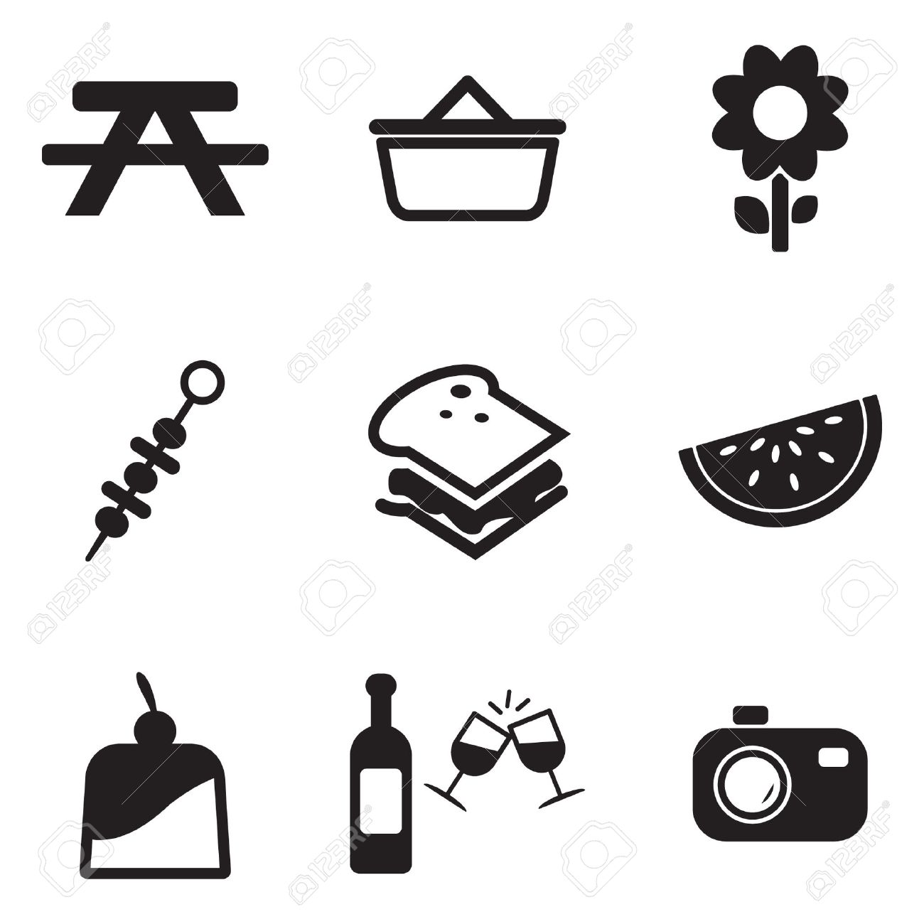 Picnic table and umbrella stock photos pictures royalty free picnic icons biocorpaavc