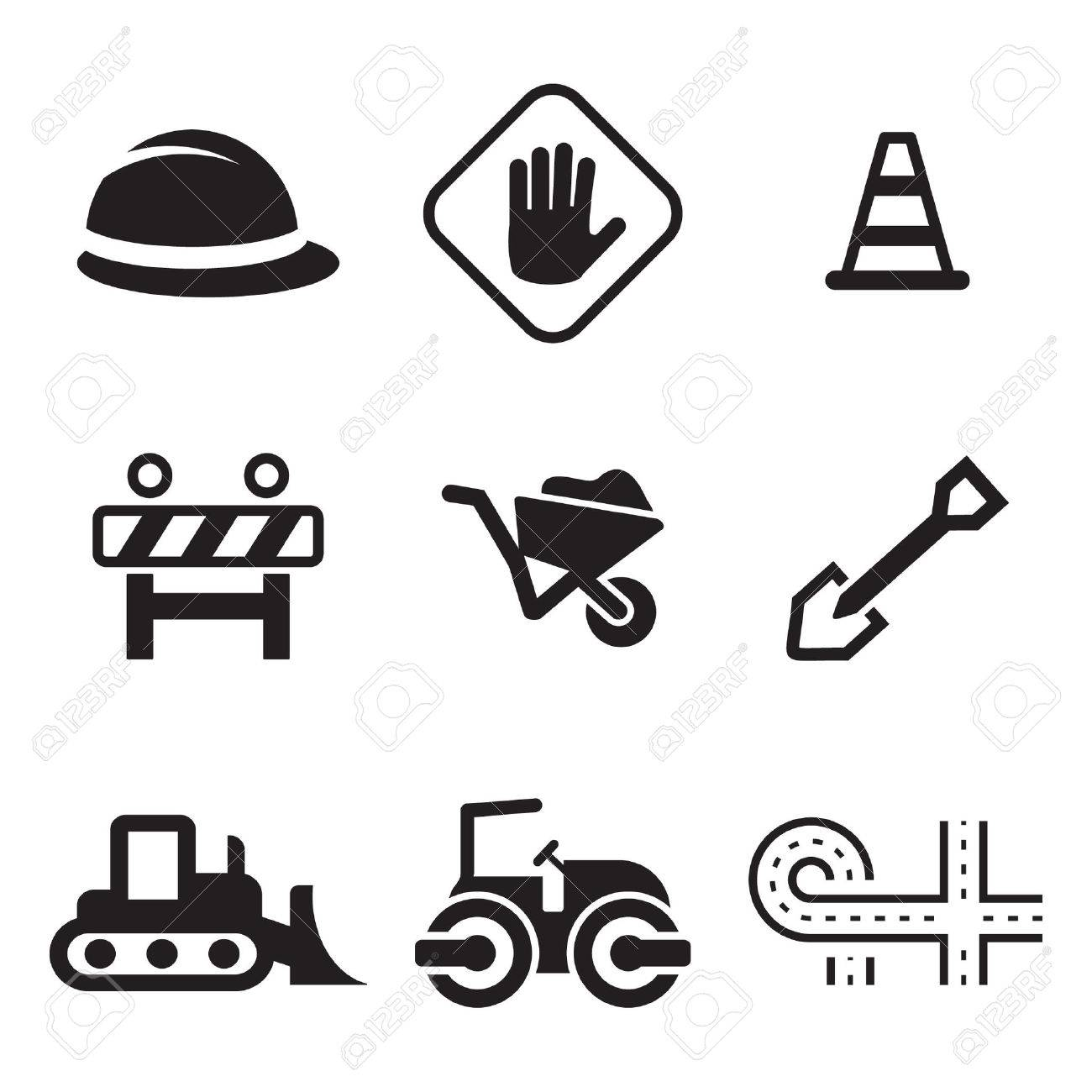 Road Construction Icons - 47307563