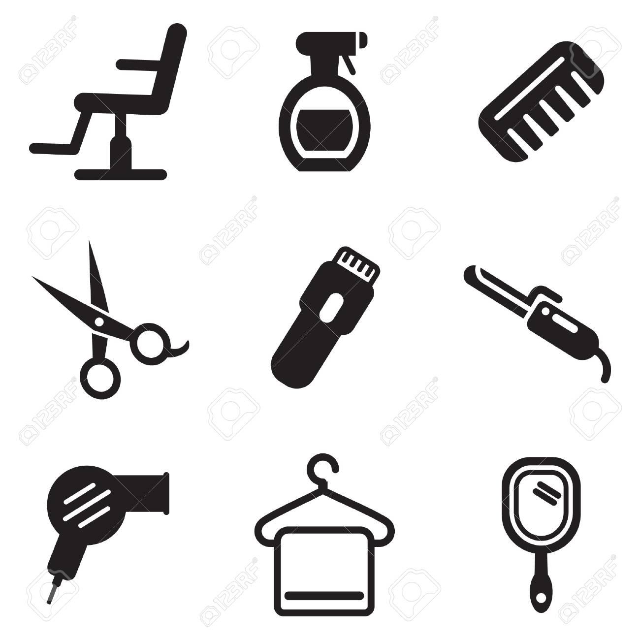 Hair Salon Icons Royalty Free Cliparts Vectors And Stock