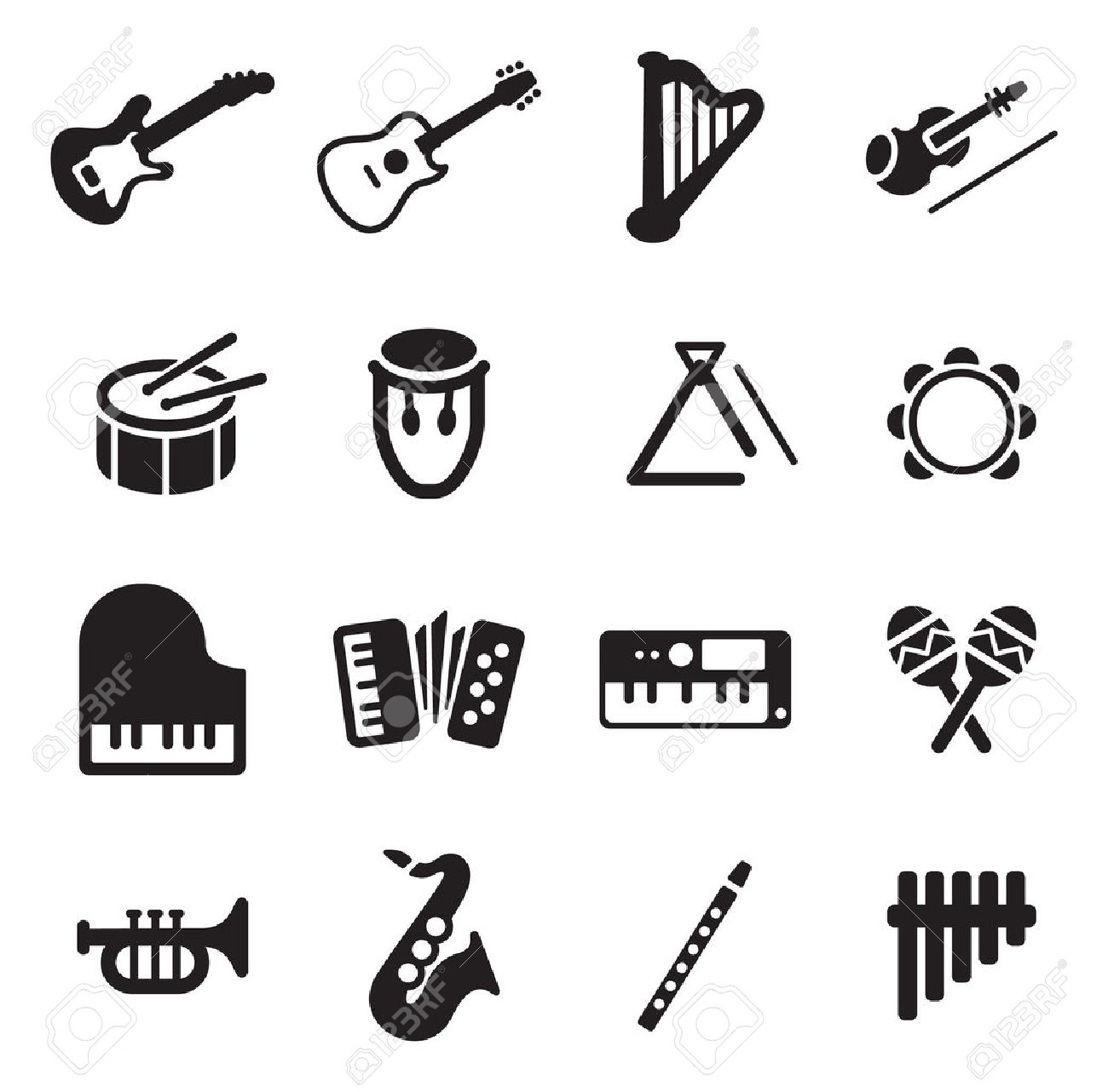 Musical Instruments Icons - 47315421