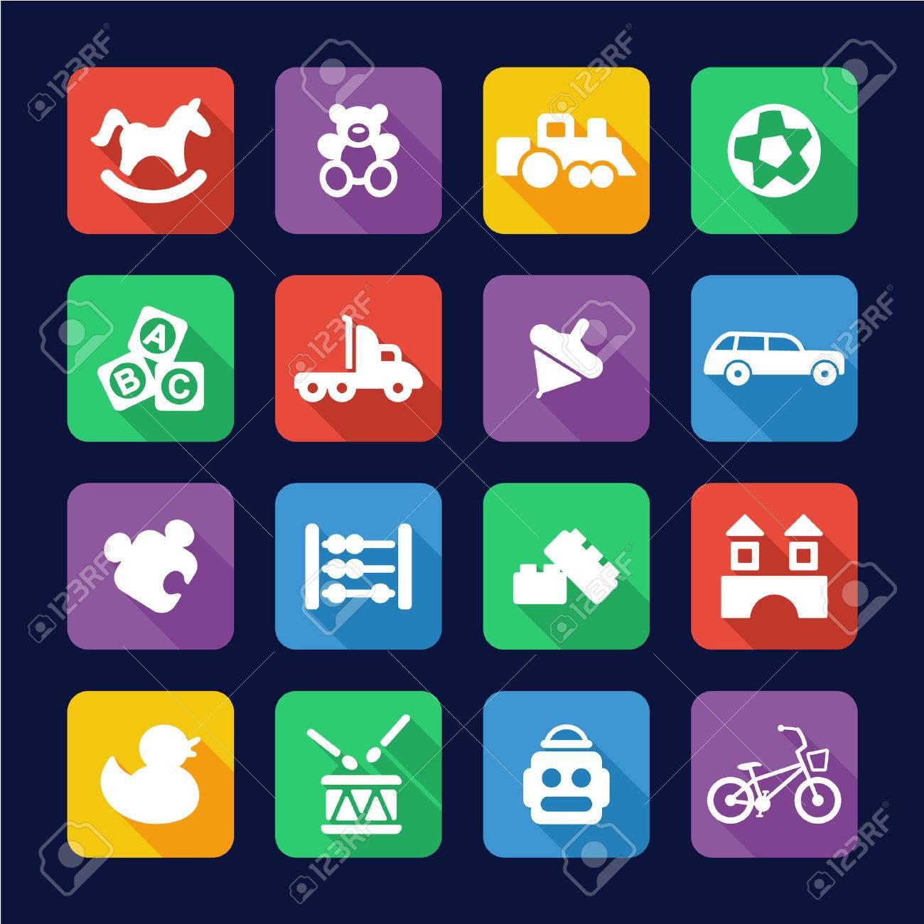 Toys Icons Flat Design - 47315432