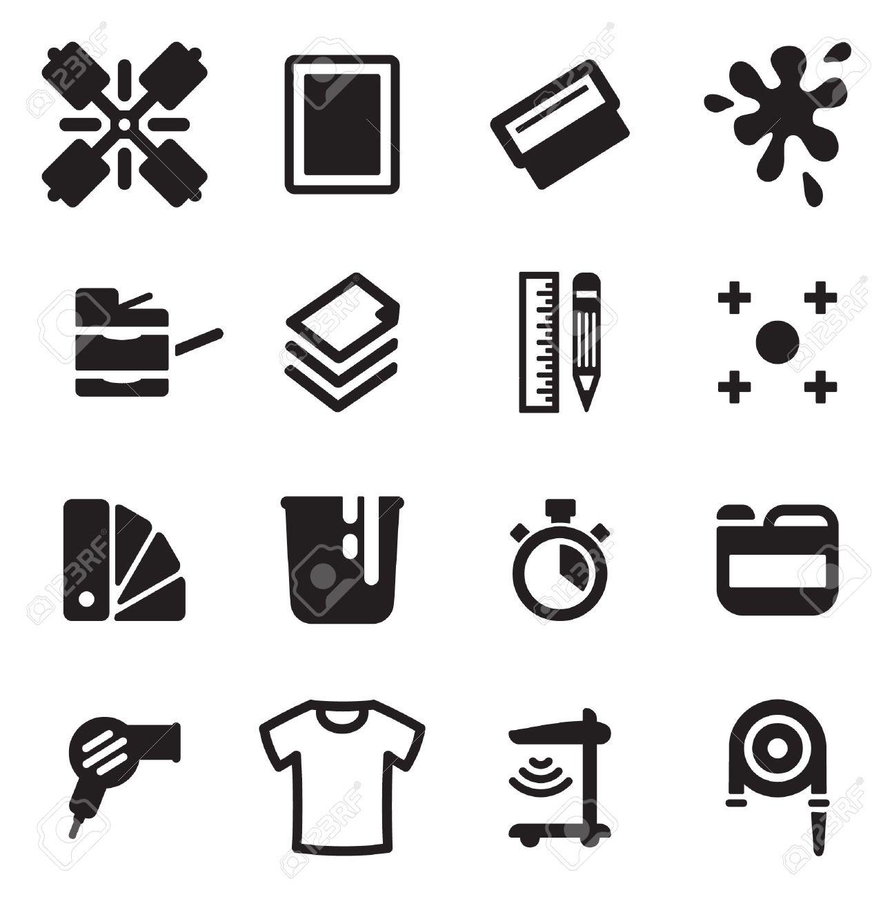 Screen Printing Icons - 47315618