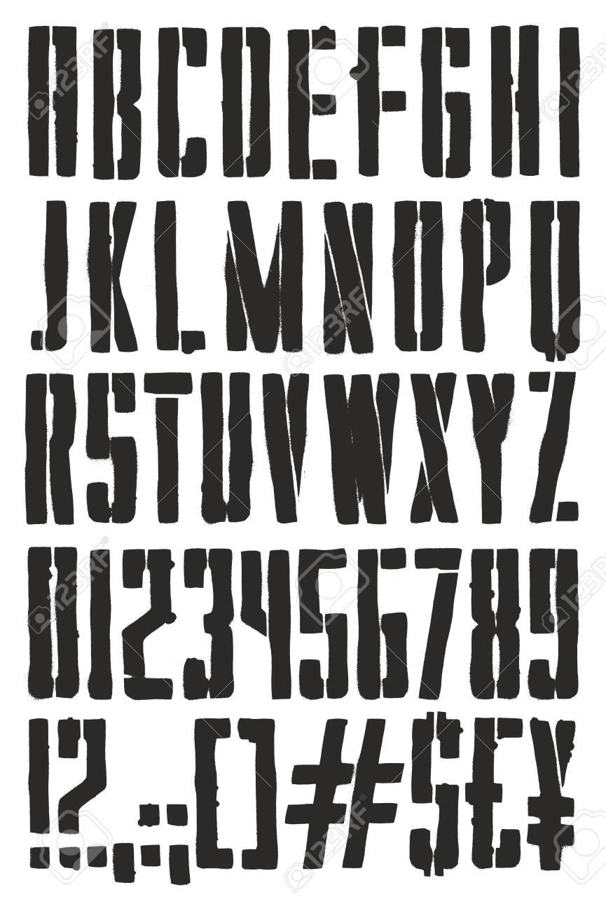Vintage Propaganda Poster Stencil Spray Paint Freehand Vector