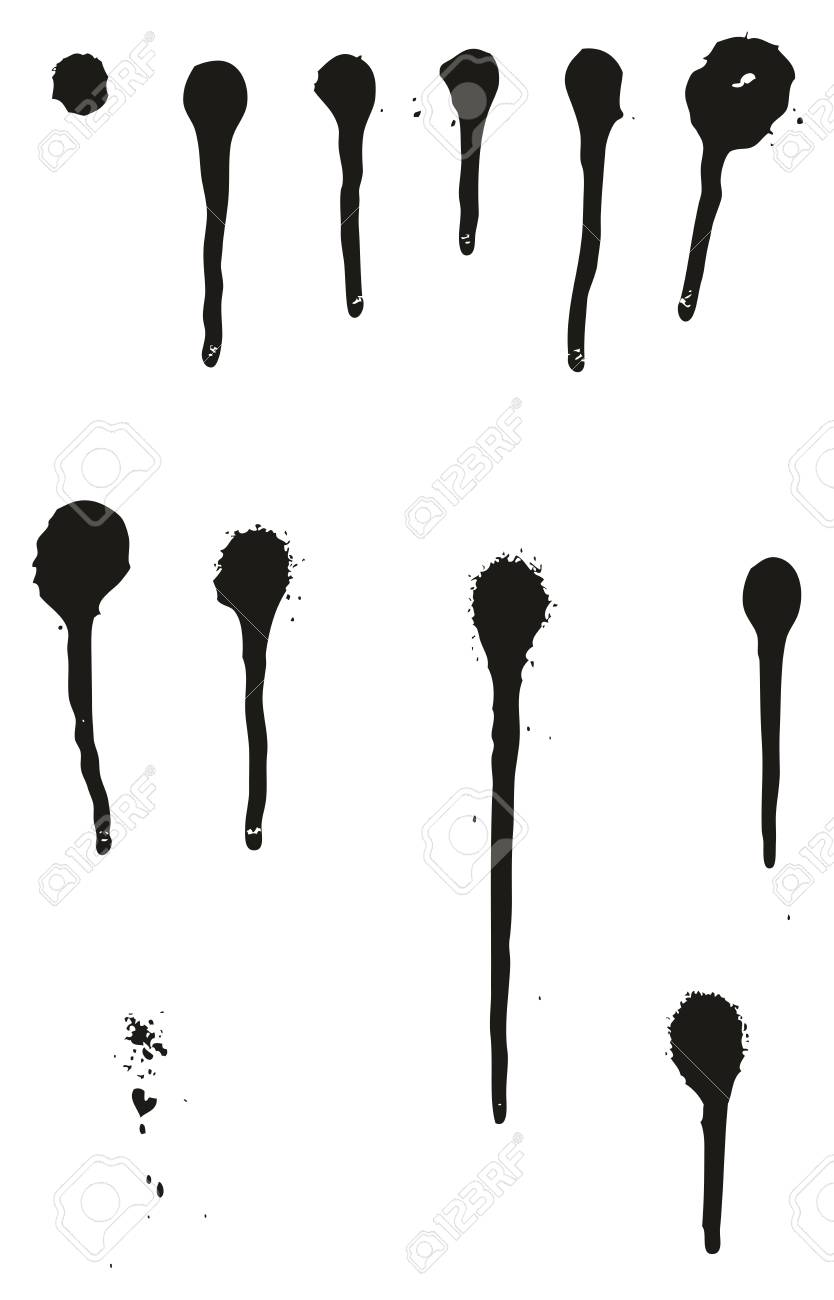 spray paint detail abstract vector drips set 01 royalty free rh 123rf com vector drips free vector paint drips for illustrator