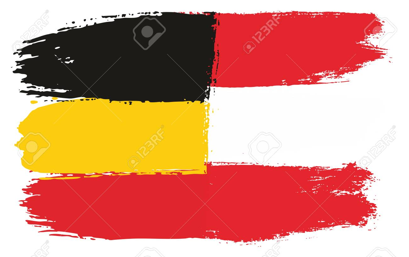 germany flag austria flag vector hand painted with rounded