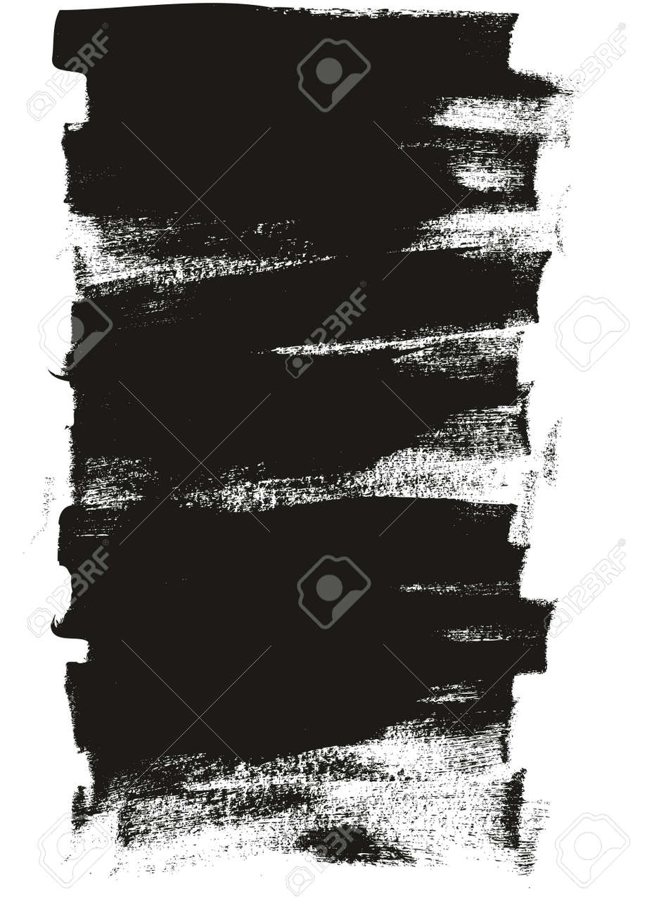Calligraphy Paint Wide Brush Background Long High Detail Abstract Vector Background - 159474534