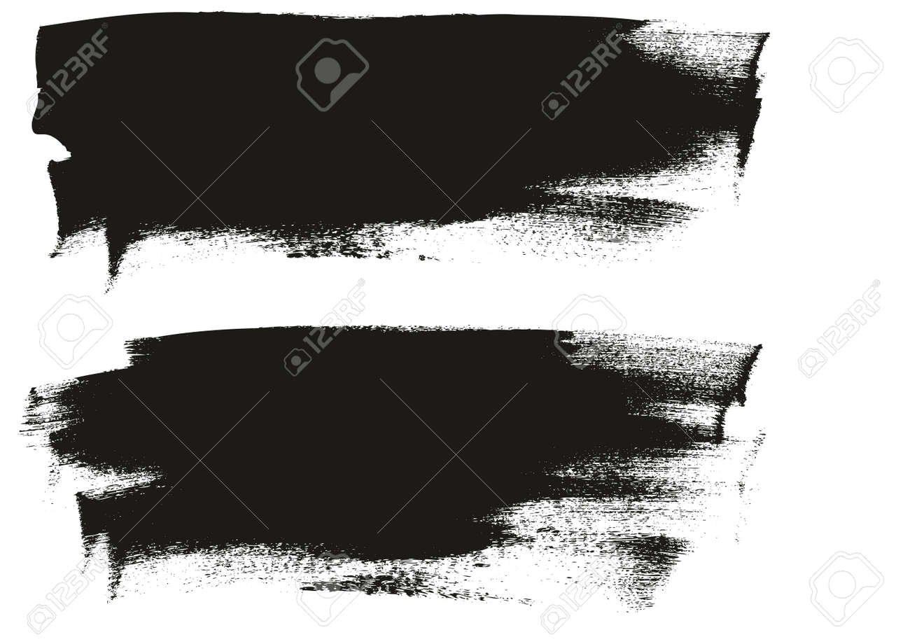 Calligraphy Paint Wide Brush Background Long High Detail Abstract Vector Background - 158618073