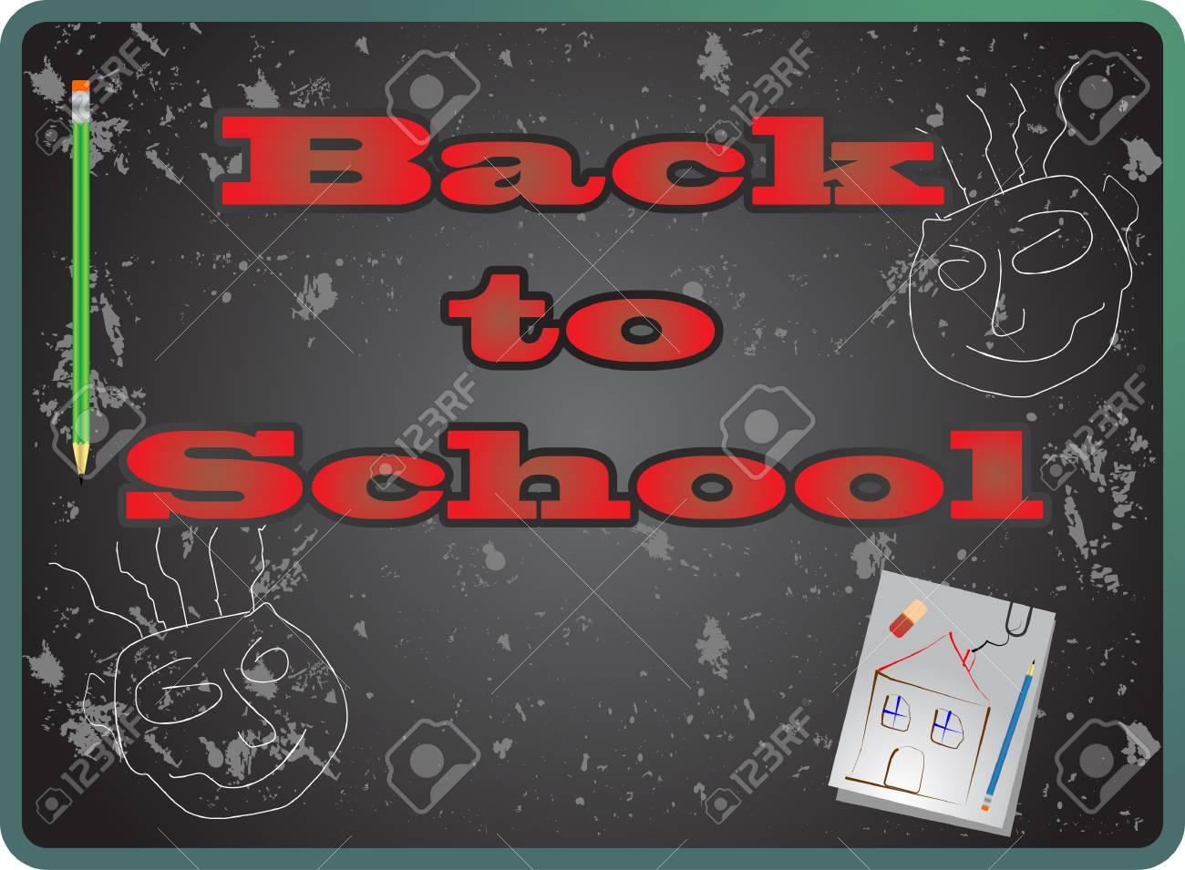 Back to school, vector Stock Vector - 9414922