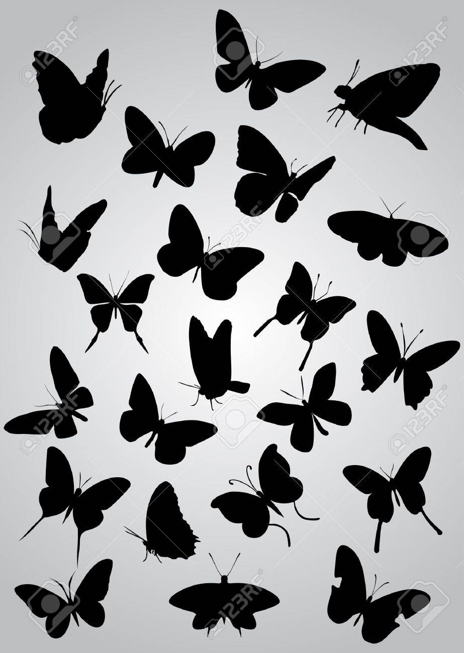 36 176 butterfly silhouette cliparts stock vector and royalty