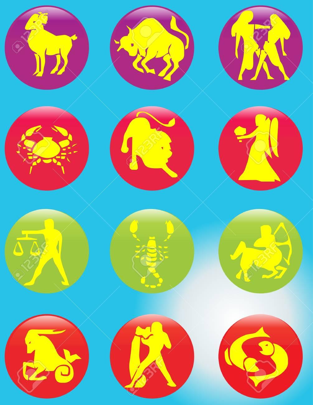Zodiac signs Stock Vector - 9433265