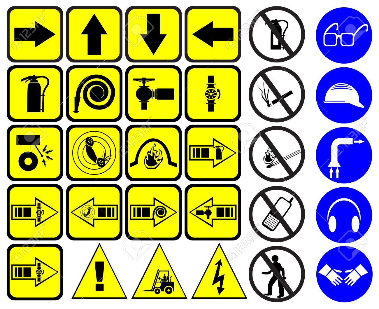 Safety signs set Stock Vector - 9433290